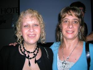 Con María del Carmen Doyharzabal, Grafólogo  Público